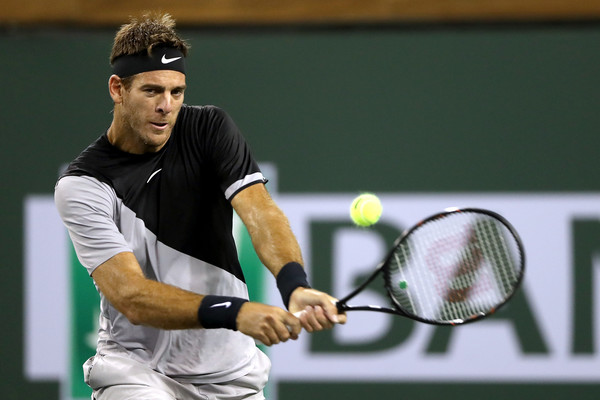 Juan Martin del Potro en route to the third round, where he will face Taro Daniel instead of a highly-anticipated clash with Novak Djokovic | Photo: Matthew Stockman/Getty Images North America