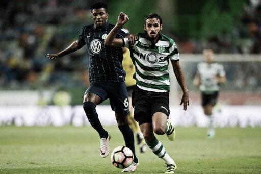 Jugada del Sporting de Portugal - Wolfsburgo del pasado 30 de julio | Foto: Bryan Ruiz González