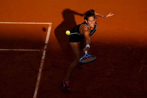 Goerges sofreu com devoluções vencedoras de Serena (Foto: Chaz Niell/Icon Sportswire via Getty Images)
