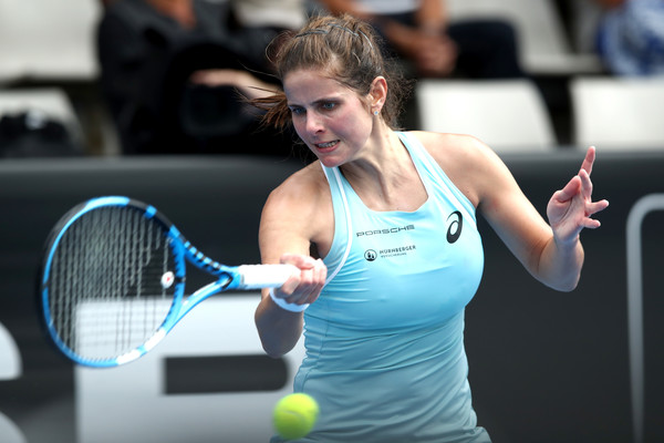 Julia Goerges in action during the ASB Classic | Photo: Phil Walter/Getty Images AsiaPac