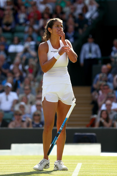 Julia Goerges celebrates claiming the huge win   Photo: Matthew Stockman/Getty Images Europe