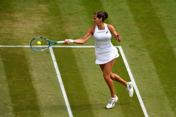 Julia Goerges managed to hit more than 30 winners during the match   Photo: Clive Mason/Getty Images Europe