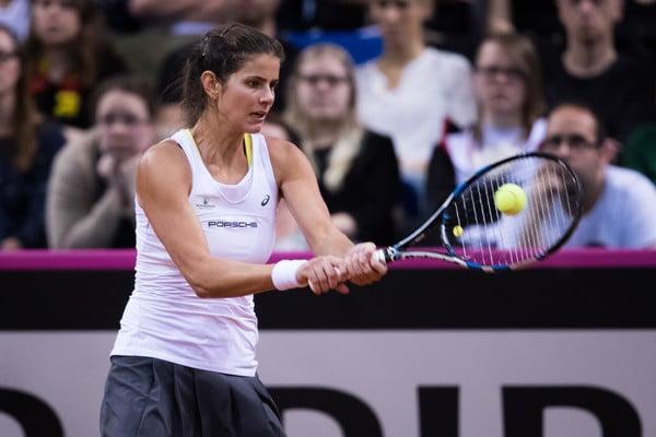 Julia Goerges was the hero for Germany during Fed Cup play last week | Photo: Simon Hofmann/Bongarts