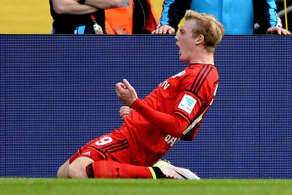 Julian Brandt uma das revelações da equipe e que chegou à seleção principal da Alemanha Foto: Sascha Steinbach/Getty Images