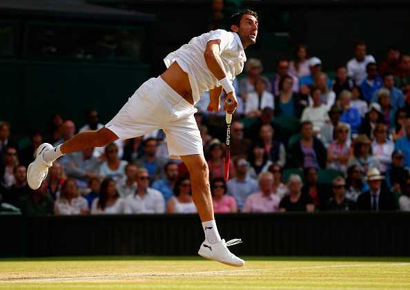 Cilic in action at Wimbledon last year (Getty/Julian Finney)