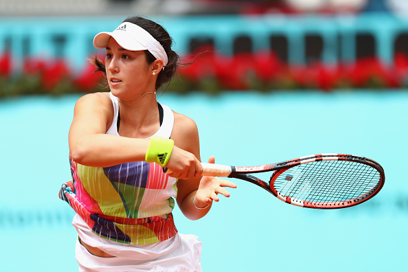 Louise Chirico in action against Daria Gavrilova in the quarterfinals in Madrid (Getty/Julian Finney)