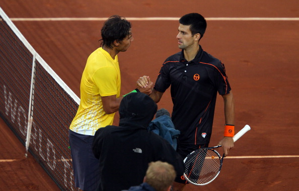 Nadal and Djokovic have only met in one final in Madrid, with Djokovic claiming the title in 2011. Credit: Julian Finney/Getty Images