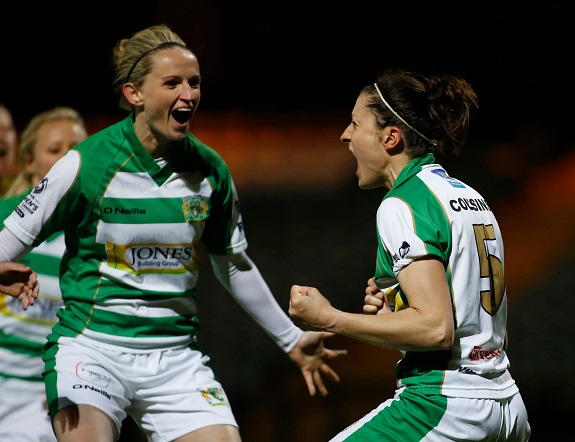 Though more likely to be defending a goal than attacking one, Nicola Cousins has chipped in with four goals for the Lady Glovers this year (credit: Julian Herbert/Getty)