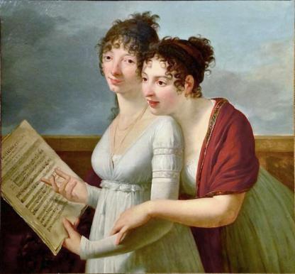 Retrato de Julie y Désirée Clary (1810), de Robert Jacques Lefèvre (1755-1830) PD.