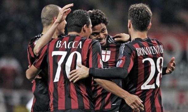Un esultanza del Milan di questa stagione. | Google.