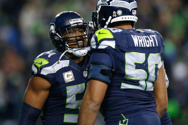 Bobby Wagner and K.J. Wright |(Nov. 14, 2015 - Source: Otto Greule Jr/Getty Images North America|