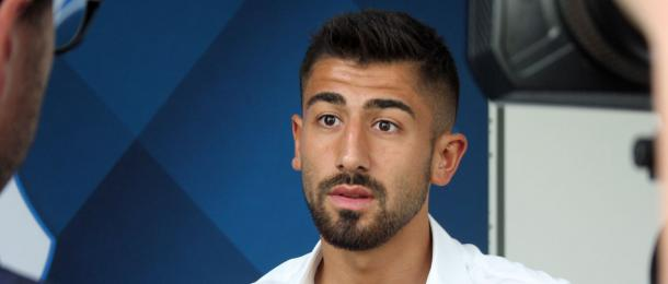 Kerem Demirbay during his first interview as a Hoffenheim player. | Image credit: TSG 1899 Hoffenheim