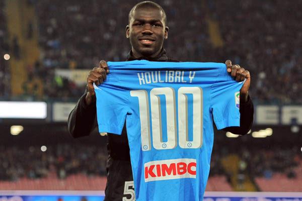 Kalidou Koulibaly, nel giorno della sua centesima presenza in maglia Napoli - Foto Getty Images