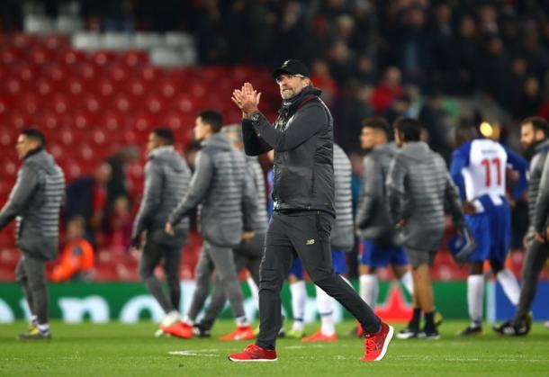 Klopp, entrenador del Liverpool. FOTO: UEFA.com