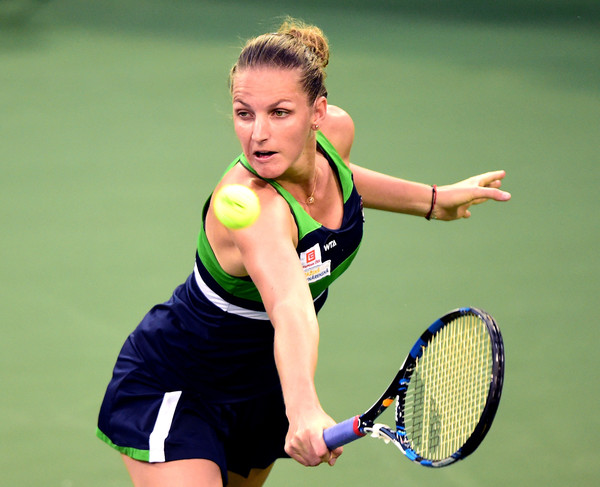 Pliskova has looked unconvincing so far in the Californian Desert but has the game to beat Bacsinszky (Photo by Harry How / Getty Images)