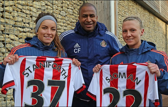 Sjoman arrived with Staniforth in the summer. | Photo: Sunderland AFC