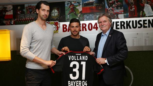 New signing, Kevin Volland. | Image credit: Bayer 04