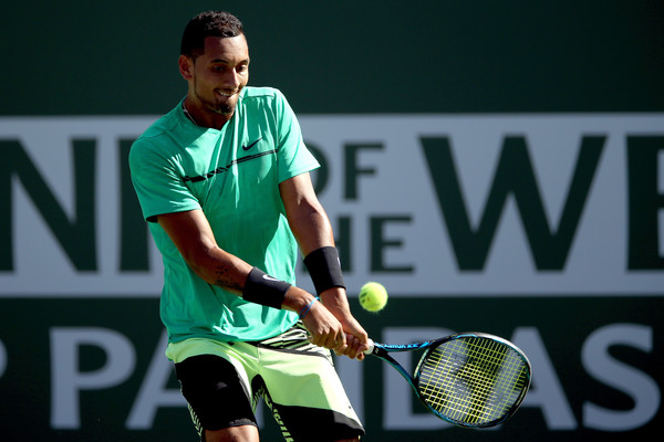 Kyrgios is aiming for his third consecutive semifinal of 2017 (Photo by Matthew Stockman / Getty Images)