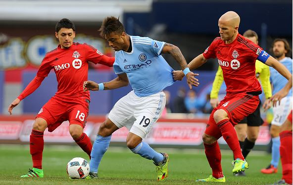 Khiry Shelton has played well so far for New York City FC / Mike Stobe - Getty Images