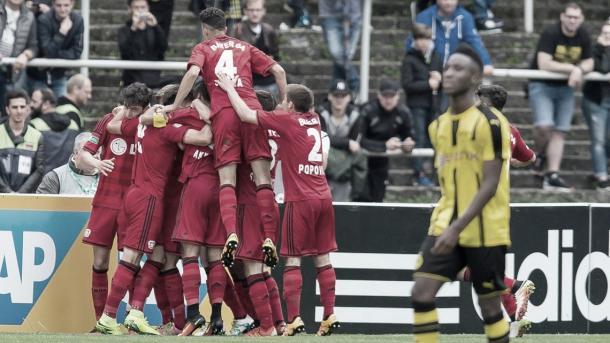 Com um gol na final, Havertz ajudou seu time a conquistar o título sub-17. Foto: reprodução/Bundesliga.com