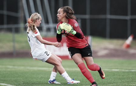 Kailen Sheridan kept her team in the game with a record 11 saves (Source: Getty - Icon Sportswire)