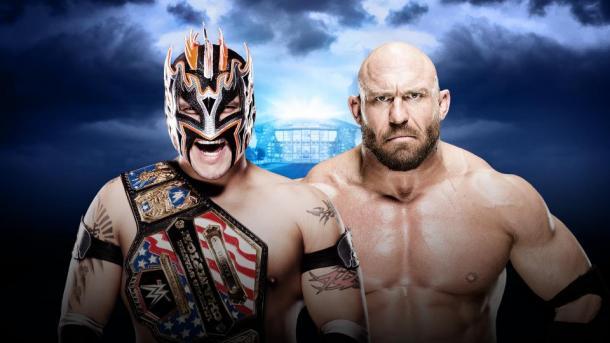 It's a true battle of size. Photo- WWE.com