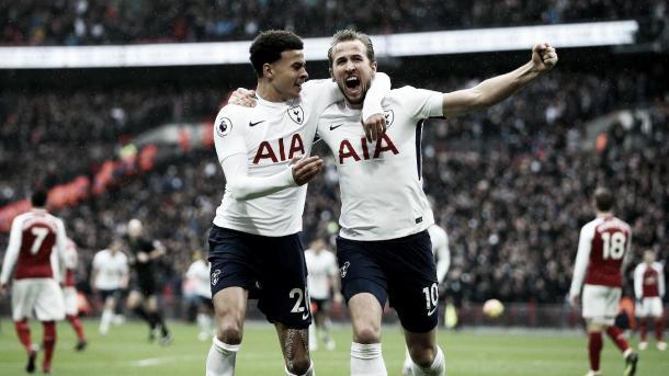 Kane anotó el gol del triunfo en el derbi de Londres. Foto: Premier League.