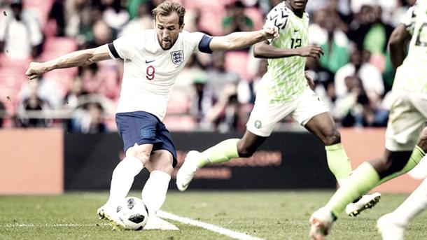 Kane antes de anotar. Foto: FIFA.com.