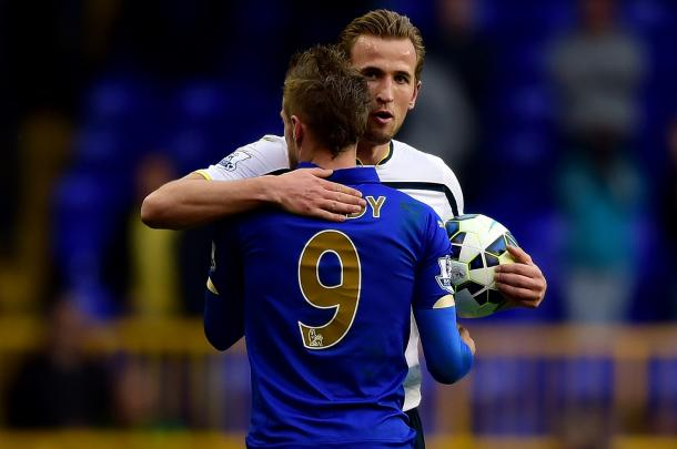 Kane and Vardy have been in incredible form this year. (Photo: Jamie McDonald/Getty Images)