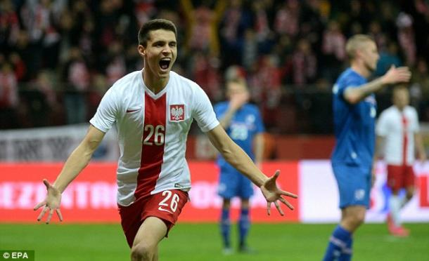 Youngster Kapustka had a good game against Northern Ireland / Daily Mail