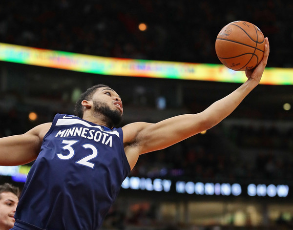Karl-Anthony Towns #32 of the Minnesota Timberwolves |Jonathan Daniel/Getty Images North America|