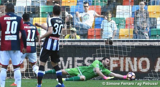 Karnezis è a un passo dal Napoli. Fonte: https://www.facebook.com/UdineseCalcio1896/