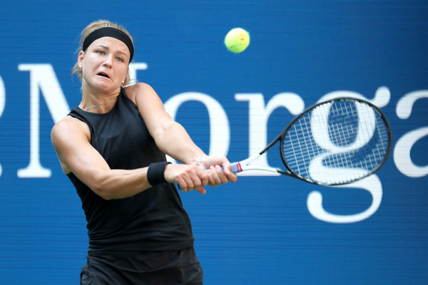 Muchova was unable to trouble Williams with her all-rounded game today | Photo: Getty Images North America