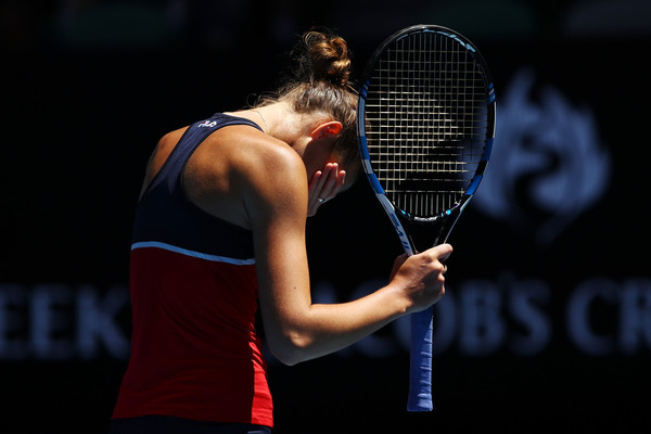Karolina Pliskova failed to consolidate her lead in the deciding set, and she would definitely rue her missed opportunities | Photo: Clive Brunskill/Getty Images AsiaPac