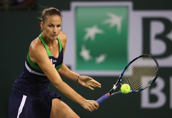 Karolina Pliskova in action at the BNP Paribas Open | Photo: Clive Brunskill/Getty Images North America