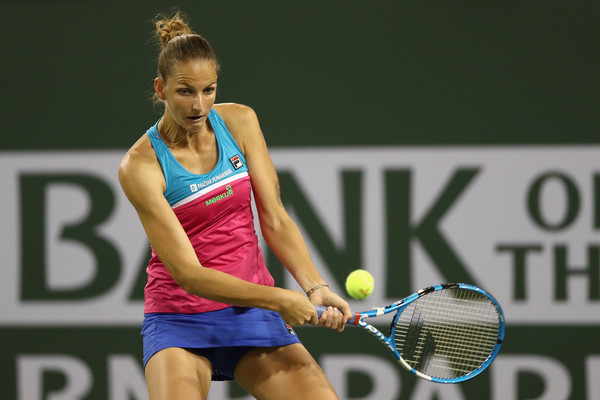 Karolina Pliskova was struggling with her game today, failing to produce her good tennis } Photo: Matthew Stockman/Getty Images North America