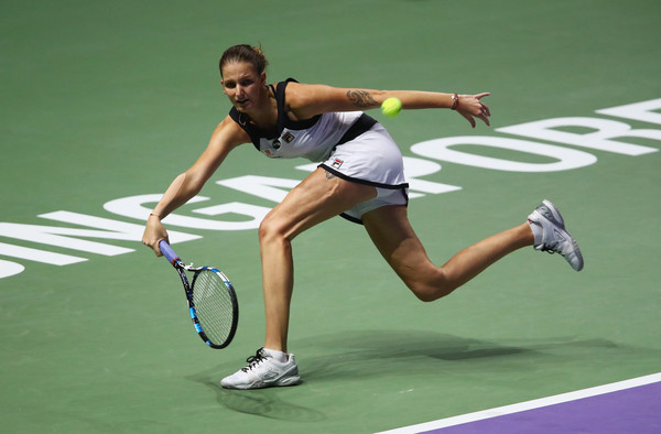 Karolina Pliskova in action at the 2016 WTA Finals, where she fell in the round-robin   Photo: Clive Brunskill/Getty Images AsiaPac