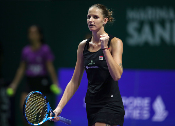 Karolina Pliskova celebrates her win in cool and calm fashion | Photo: Clive Brunskill/Getty Images AsiaPac