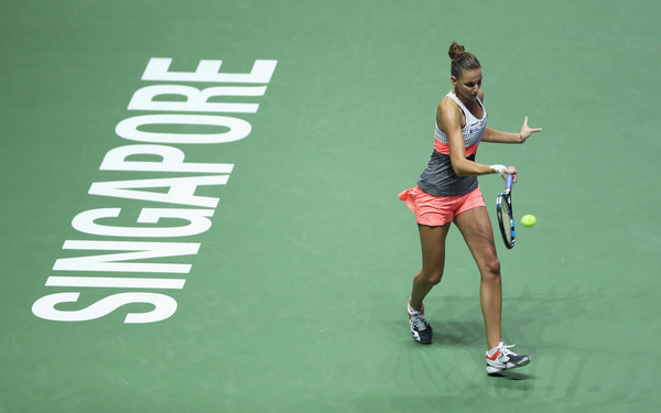 Pliskova in action at the 2017 WTA Finals | Photo: Matthew Stockman/Getty Images AsiaPac