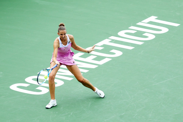 Karolina Pliskova put up some tough fight in the second set but failed to make it a competitive one | Photo: Maddie Meyer/Getty Images North America