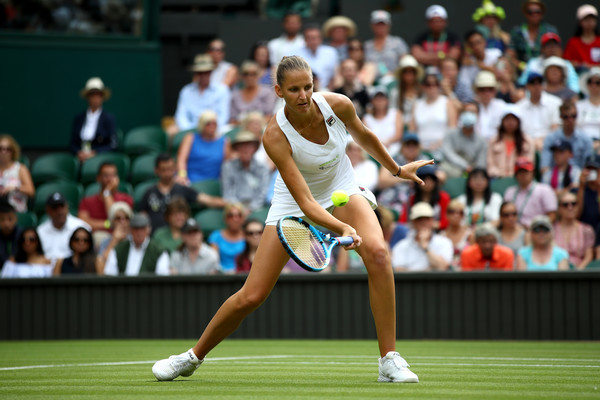 Karolina Pliskova's game was firing on all cylinders throughout the match | Photo: Clive Mason/Getty Images Europe