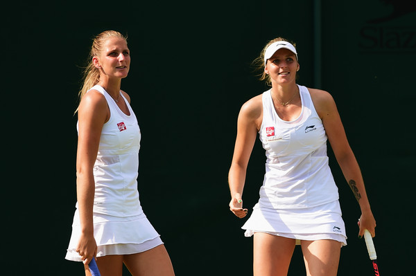 The Pliskova twins in action at the Wimbledon Championships back in 2015 | Photo: Shaun Botterill/Getty Images Europe
