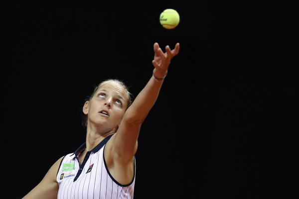 Karolina Pliskova added six to her total ace count of the year, bringing herself to the top of the leaderboard on tour | Photo: Alex Grimm/Getty Images Europe