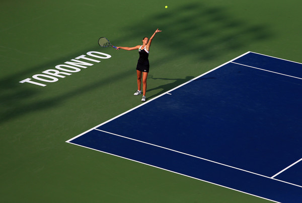 It was Karolina Pliskova who had the better start into the match, coming out firing on all cylinders in Toronto | Photo: Vaughn Ridley/Getty Images North America