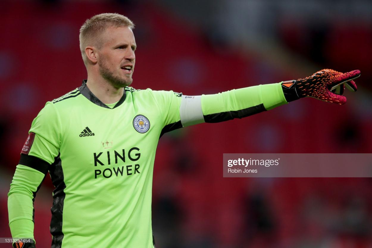 Kasper Schmeichel has been a key figure in Leicester's 2020-21 campaign | Robin Jones | Getty Images
