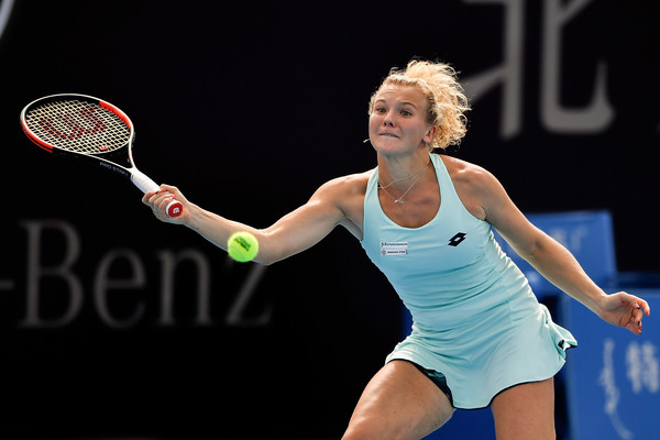 Katerina Siniakova in action at the China Open | Photo: Etienne Oliveau/Getty Images AsiaPac