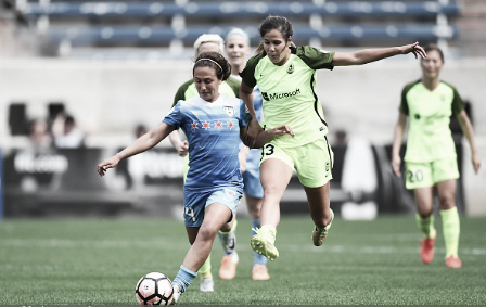Katie Johnson (right) provided a spark off the bench for Seattle (Source: Getty - Icon Sportswire)