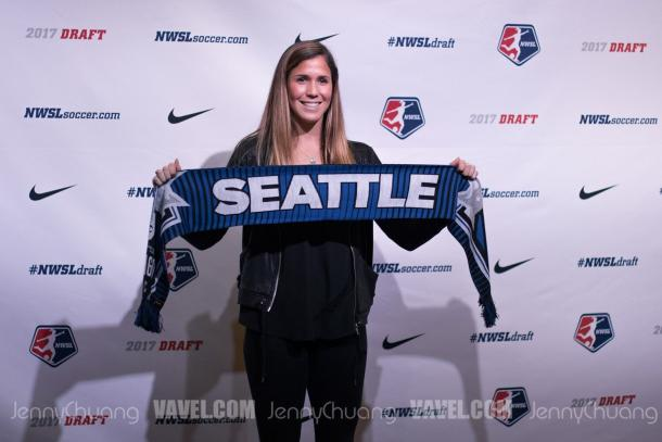 Katie Johnson was the fourth player from USC taken in the first two rounds of the draft | Source: Jenny Chuang - VAVEL USA