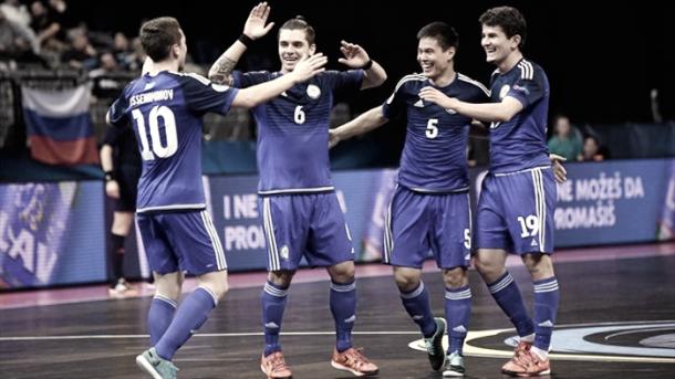 Selección kazaja celerando un tanto I Foto: Altas Pulsaciones