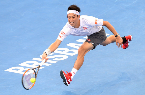 Kei Nishikori has been an active participant of the Brisbane International | Photo: Bradley Kanaris/Getty Images AsiaPac